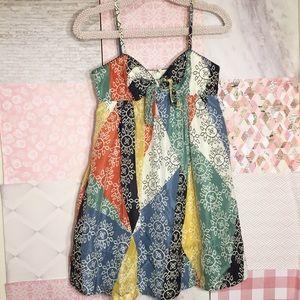 SALE 💗BCBGMaxAzria   Colorful Silk Sun Dress